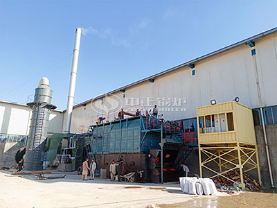 15tons chain grate coal-fired boiler